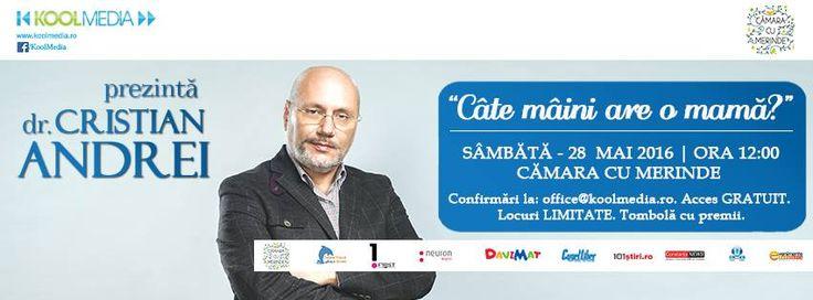Sambata 28 Mai stam de vorba cu Dr. Cristian Andrei la Camara cu Merinde