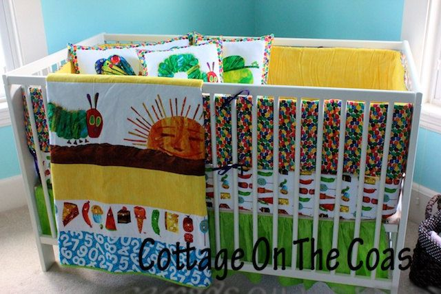 Custom 5 Piece Crib Set Made From Very Hungry by CottageOnTheCoast, $290.00