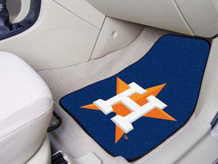 Houston Astros 27in x 18in Auto Floor Mat (Set of 2 Car Mats)