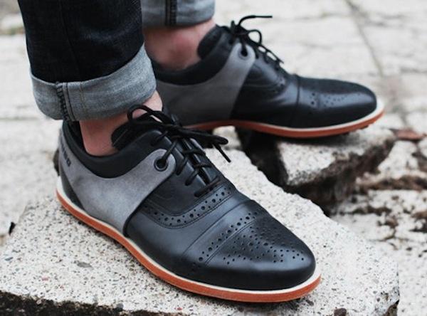Black sneakers look like dress shoes