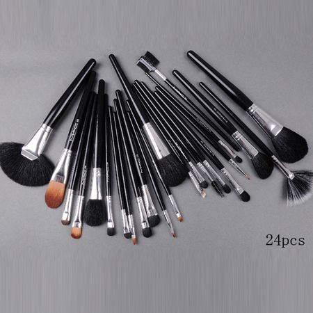 mac 24 pcs brush set with black pouch makeup for only $18!! This site has a lot of cheap high end makeup!!