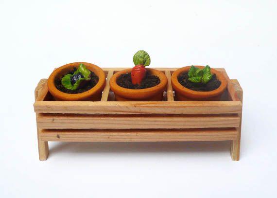 Tiny Wooden Box/ Fairy Garden Accessories/ Mini Garden Box/ Raised Planter/ Fairy Garden Box