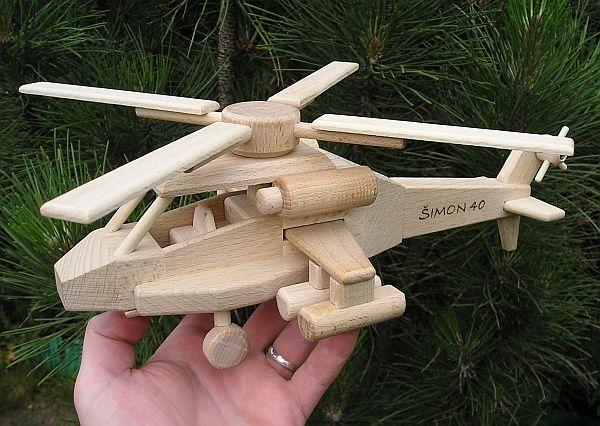Vrtulník, dřevěné hračky s textem na přání. SKLADEM eshop www.soly.cz