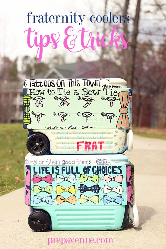 Tis the season for fraternity formals...and you know what that means... COOLERS. Mistakenly, I was excited about making my firs...