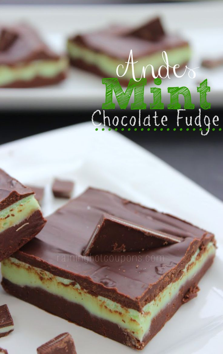 Andes Mint Chocolate Fudge - St. Patrick's Day