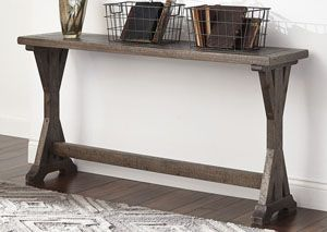 Valkner Grayish Brown Sofa Table, /category/living-room/valkner-grayish-brown-sofa-table.html