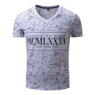 FREDD MARSHALL New Arrival Men T-shirt Men's Short Sleeve Tee Mens Full Polka Dot Printing Cotton Flexible Tops Plus size 309