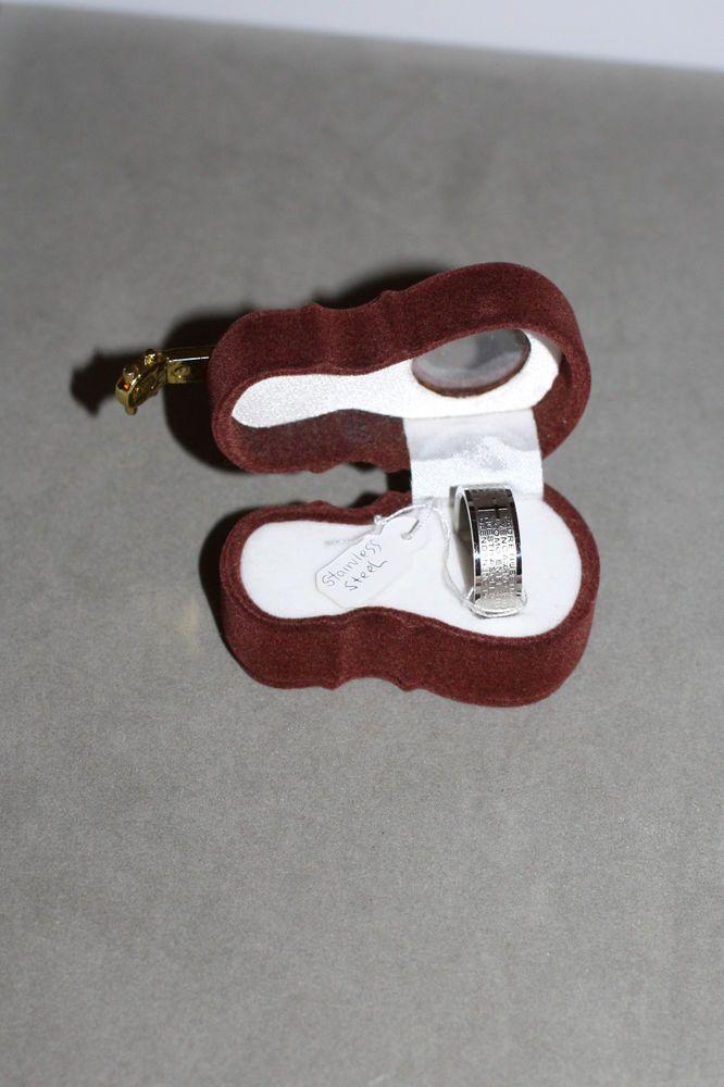 MENS ROSARY PRAYER STAINLESS STEEL RING | eBay