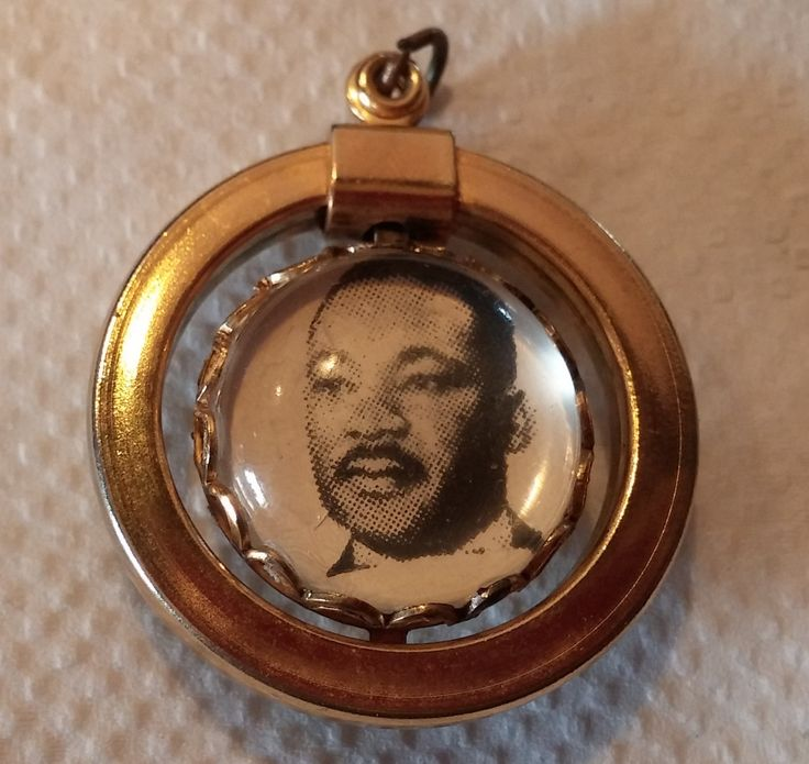 Martin Luther King I have a Dream Double Sided Pendant Southern Christian Leadership Conference Civil Rights Movement Black History by CalliCatVintage on Etsy
