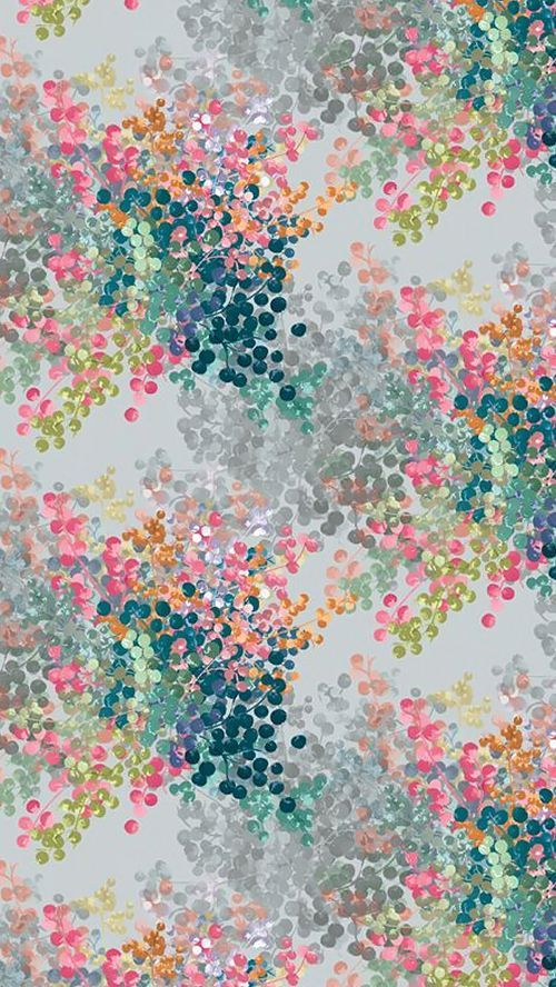 Abstract floral print in the most gorgeous combination of teal, lime, orange, si... | Abstract HD Wallpapers 3