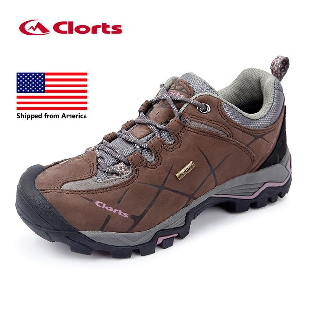 1cc2878d351 From USA Clorts Women Hiking Shoes Leather Non-slip Outdoor Trekking ...