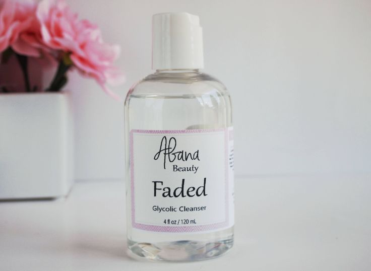 Faded Glycolic Cleanser - Glycolic Acid Face Wash - Glycolic Acid Wash - Facial Cleanser - Exfoliating Face Wash - Exfoliating Cleanser by AbanaBeauty on Etsy