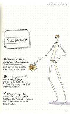Parisian Chic: A Style Guide by Inès de la Fressange | Swimwear Faux Pas
