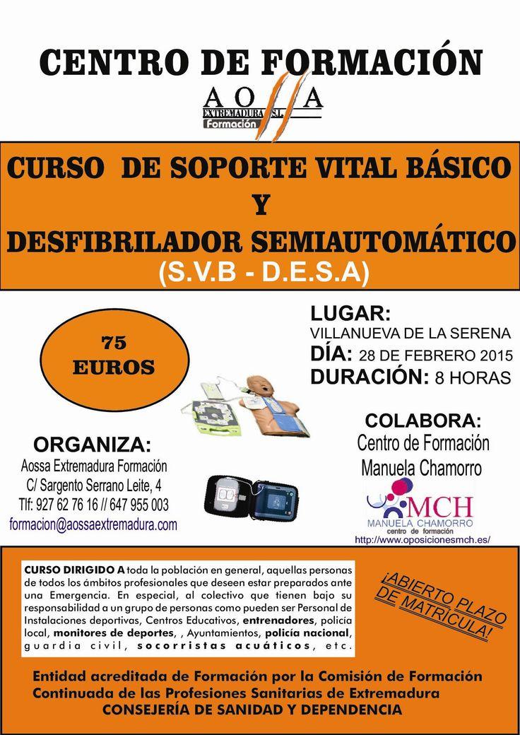 CENTRO DE FORMACIÓN MANUELA CHAMORRO: Curso de Soporte Vital Básico y Desfibrilador semi...