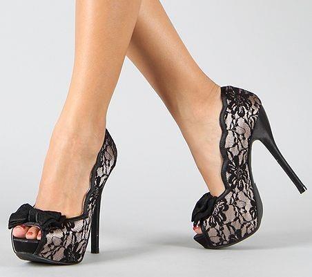 sex kittenWalks, Wedding Shoes, Lace Heels, Dresses, Black Laces, Pump, Bows, Lace Shoes, High Heels