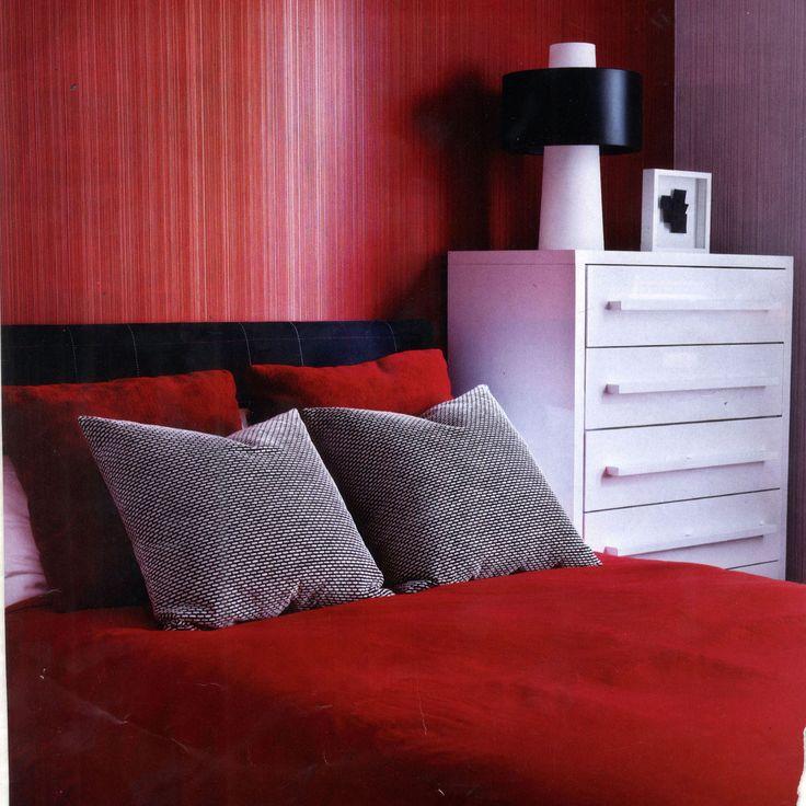 New York Interior Designer Red Bedroom