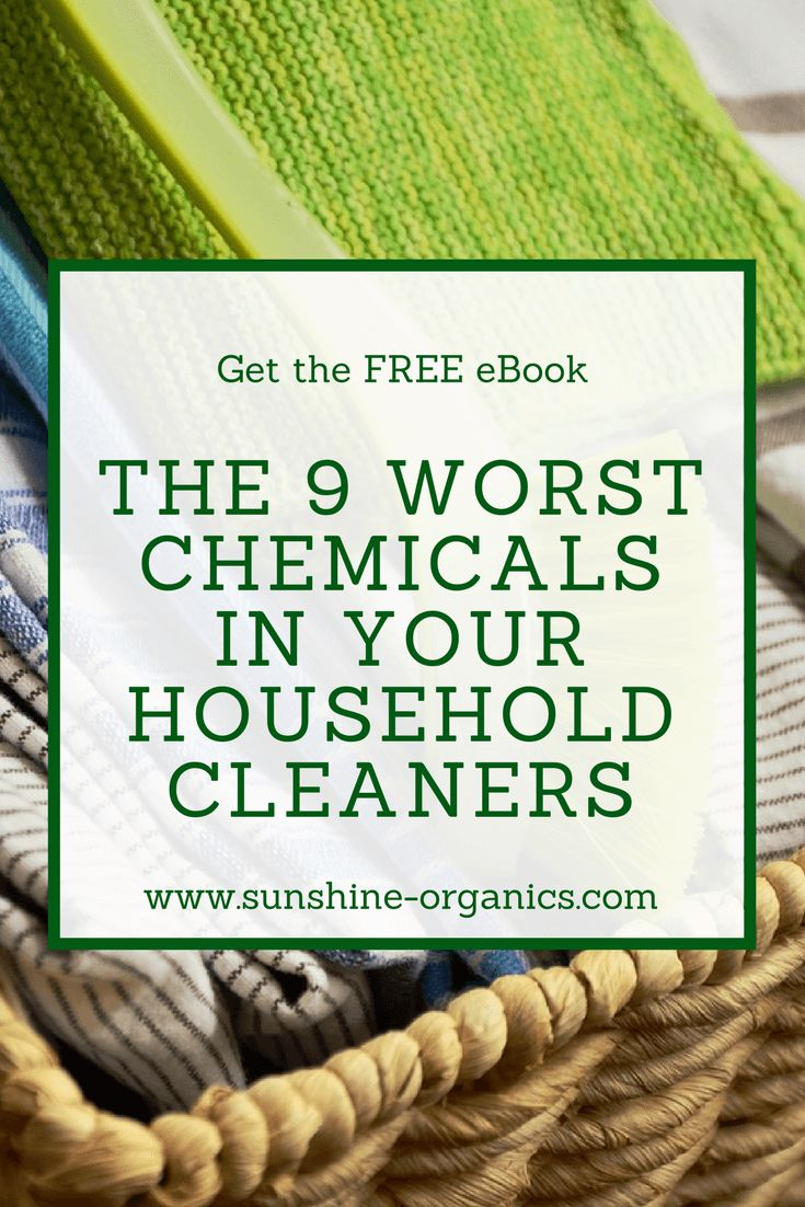 Get the FREE eBook: The 9 worst chemicals in your household cleaners. Learn how to protect your body and particularly your skin from dangerous ingredients and maintain good health when cleaning your home. Get the eBook now: https://blog.sunshine-organics.com/ebooks/