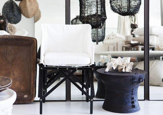 Est Magazine | Pamela Makin | Les Interieurs | Natural Elements | White Chair