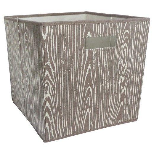 """Fabric Cube Storage Bin (13""""x13"""") Mint & Cream - Pillowfort™ : Target"""