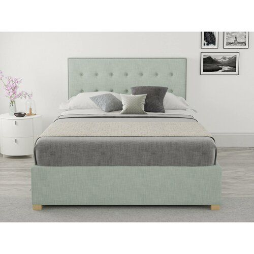 Enjoyable August Grove Homeland Upholstered Ottoman Bed Products In Inzonedesignstudio Interior Chair Design Inzonedesignstudiocom