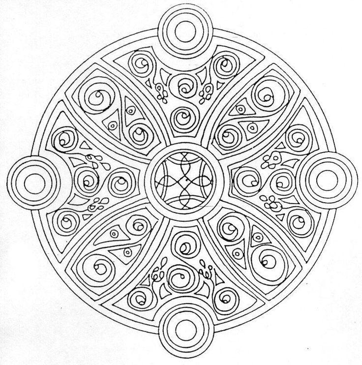 mandalas to print and color   Coloriage Mandala a imprimer