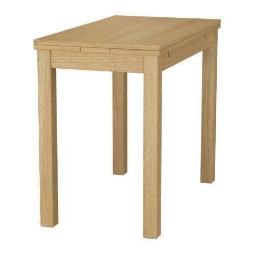 БЬЮРСТА Раздвижной стол IKEA 2 выдвижные полы прилагаются. Обеденный стол с 2 выдвижными полами на 1-2 человек; размер стола можно регулировать.