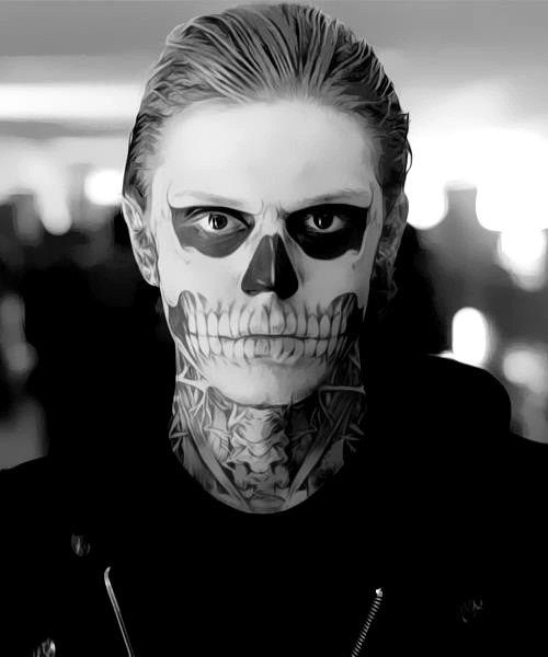 Because he can rock skeleton makeup like no other. | 17 Reasons Evan Peters Dominates Your Darkest Fantasies
