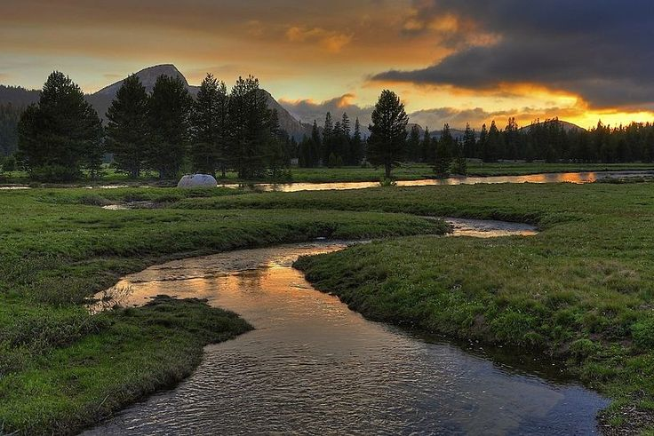 Tuolumne Meadows Sunset, Yosemite