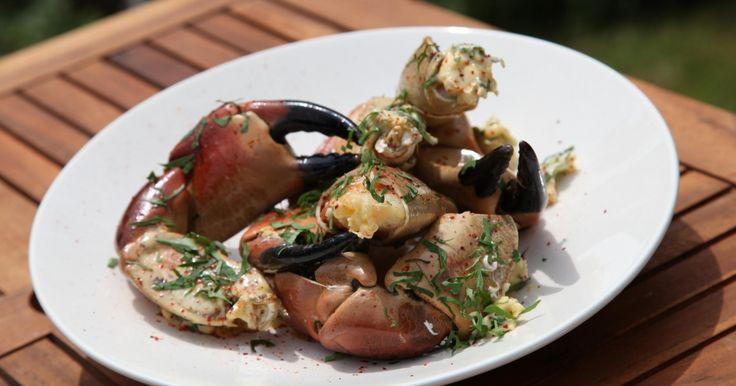 """Recette - Pinces de crabe au beurre d""""ail   Notée 4/5"""
