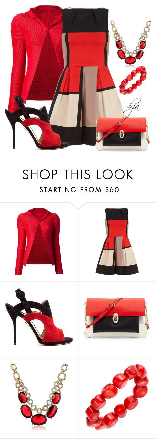 """""""Style this dress"""" by dgia ❤ liked on Polyvore featuring Issey Miyake Cauliflower, Dorothy Perkins, Paul Andrew, Christian Louboutin, Anne Klein and Avalonia Road"""