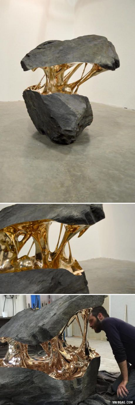 """""""Molten"""" sculpture (Romain Langlois)  I just enjoy the shapes of the negative and positive space."""
