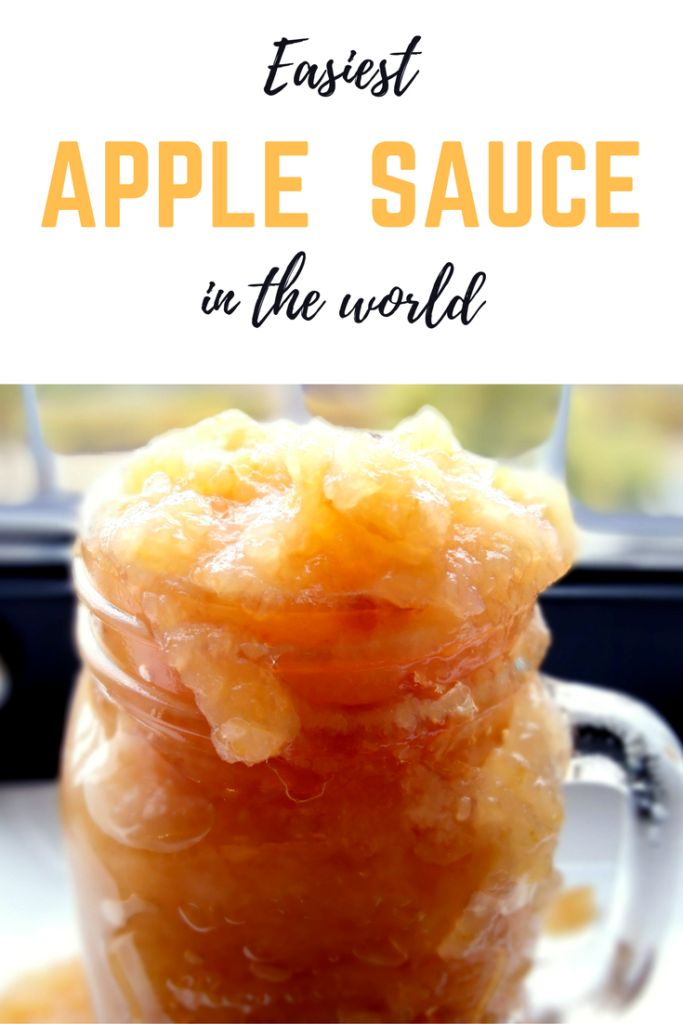 Easiest apple sauce in the world! 3 ingredients only, easy to make, delicious apple sauce. Fall recipes made easy.