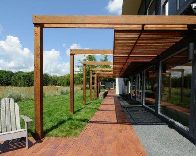 patio moderne en bois de design original