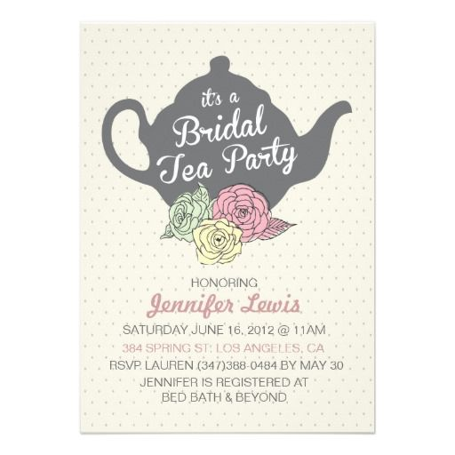 22 best Tea Party Bridal Shower Invitations images on Pinterest