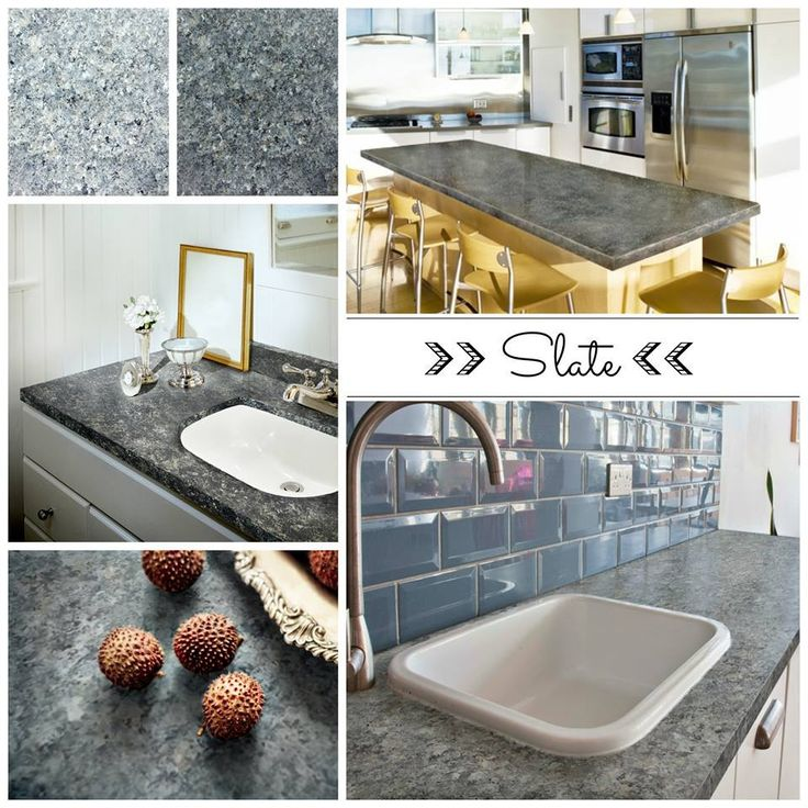 Slate For Kitchen Counters: Dark Countertops, Kitchen With Dark Floors And
