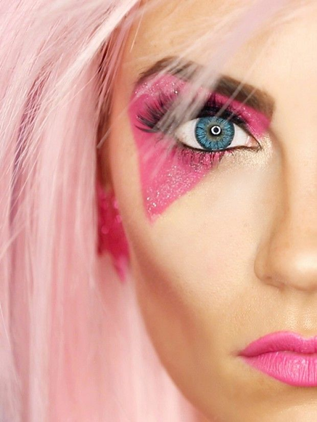 . Jem and the Holograms Halloween Makeup Tutorial Jem and the Holograms Halloween Makeup Tutorial via @byrdiebeauty