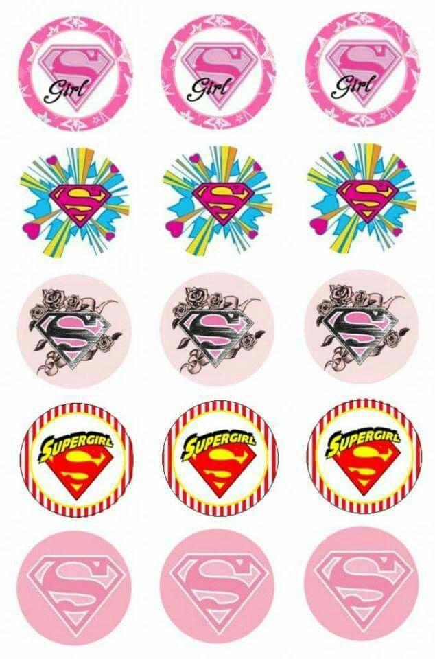 Bottle Cap: Super Girl - 3 cm.