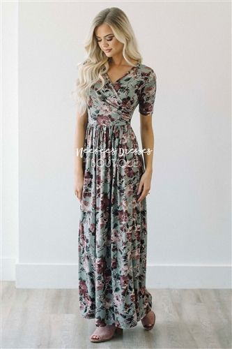 It was love at first site with this maxi dress and it will not last long! The Morgan is made of the softest material! You will look amazing but feel like you are in your pj's, talk about a win-win! Dress slips on, has stretch, a cross over bodice that is
