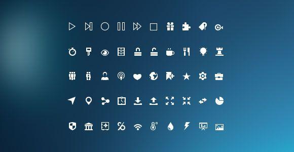 PSD Freebie: Mini glyphs icon set PSD
