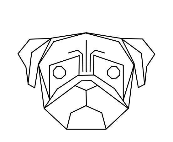 geometric geometrique dog chien cute drawing pinterest dogs. Black Bedroom Furniture Sets. Home Design Ideas