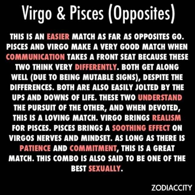 Pisces dating virgo