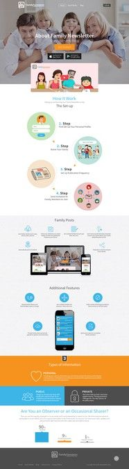 Amazing Single Page Design for Social Media Patform by Sixtags