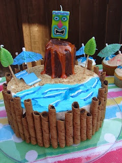 Tiki Cake, we make awesome cakes at home I can definetly pull this off!!!!!
