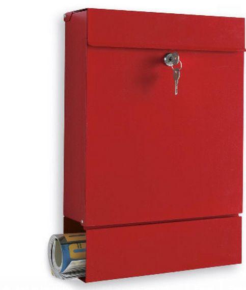 Minimale ma vivace per il colore la cassetta postale con lo spazio per i giornali o la pubblicità #arredamento #design #accessori