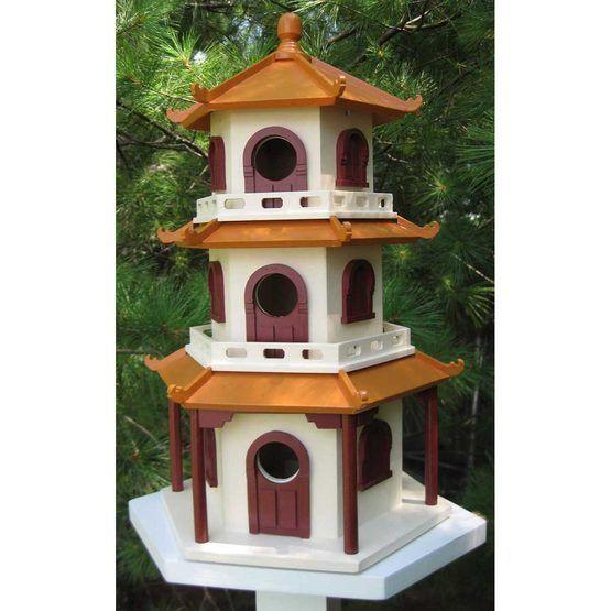 Bird houses bird house wood pinterest chinese pagoda for Pagoda house plans