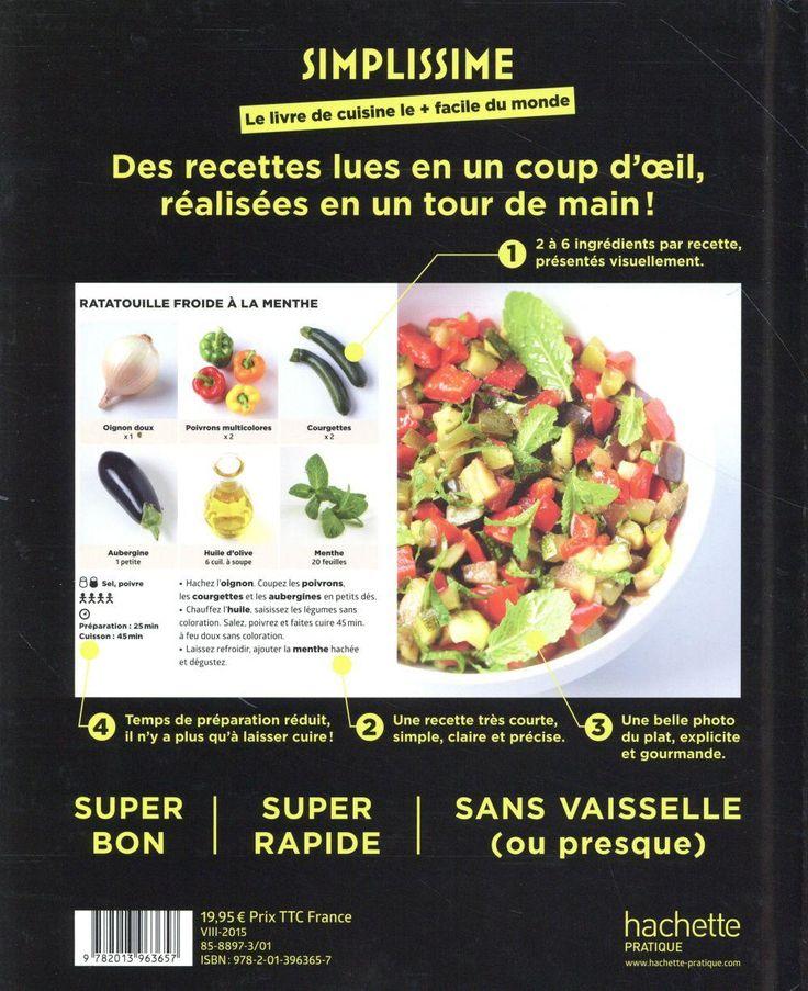 Simplissime ; le livre de cuisine le + facile du monde - 4ème de couverture - Format classique