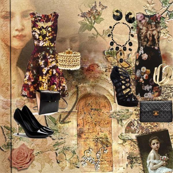 """floral high st V high end"" by kellylouisesarah on Polyvore"