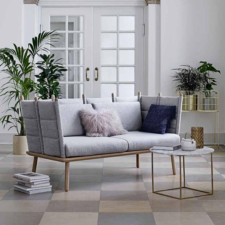 bloomingville couchtisch eva marmor metall wei gold. Black Bedroom Furniture Sets. Home Design Ideas