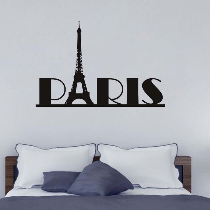 High Quality Diy Black Paris City Wall Stickers Home Decor Vinyl Pvc Material Removable Nursery Wall Decals For Living Room  #Affiliate