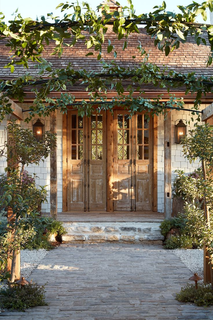 I've had these antique doors in the back of my warehouse and knew they'd look perfect on the front of the garden house. Another thing I love about them is that they can be easily propped open to let in even more natural light on a pretty day.